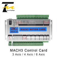 WaveTopSign Mach 3 CNC Control Card 3axis 4axis 6axis XHC MK4 CNC Mach3 USB Port Support Window 7 Systerm