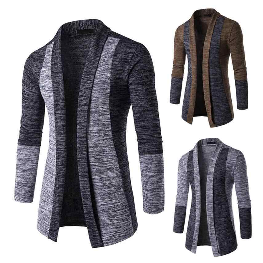Jacket Winter Warm Knit Cardigan Outerwear & Coats Cotton Blend Long Sleeve Men's Business Casual Jacket Chaqueta Hombre 4XL