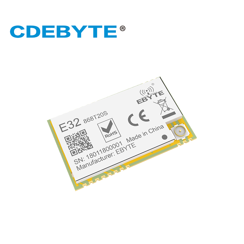 Модуль Ebyte E32-868T20S LoRa SX1276 SMD 868MHz 100mW UART приемопередатчик 3,3 V ttl IPEX штамп антенна отверстия интерфейс