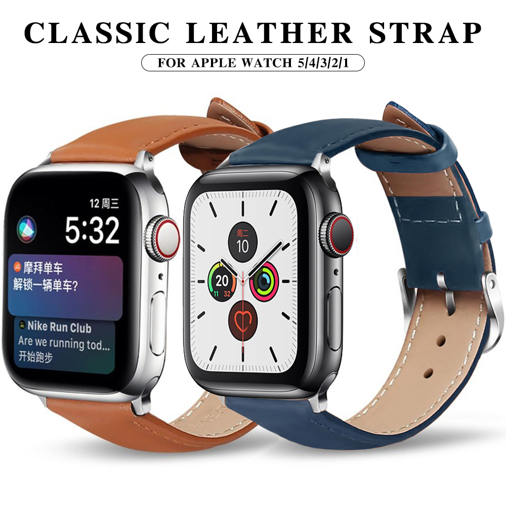 Leather Apple Watch Band Suitable For 5 40mm 44mm Bracelet Belt Genuine Leather Strap Watch Band 38mm 42mm Iwatch Series 4/3/2/1