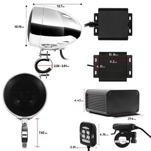 Image 5 - Aileap 150W Conjunto com 2ch Stereo Amplificador de Áudio Da Motocicleta, 4 Polegadas Falante À Prova D Água, Entrada USB, bluetooth, Rádio FM, AUX MP3