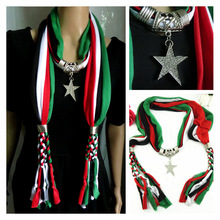 Professional  Jewelry Scarf Fashionable Coloured Star-Drilling Pendant Lady pendant scarf