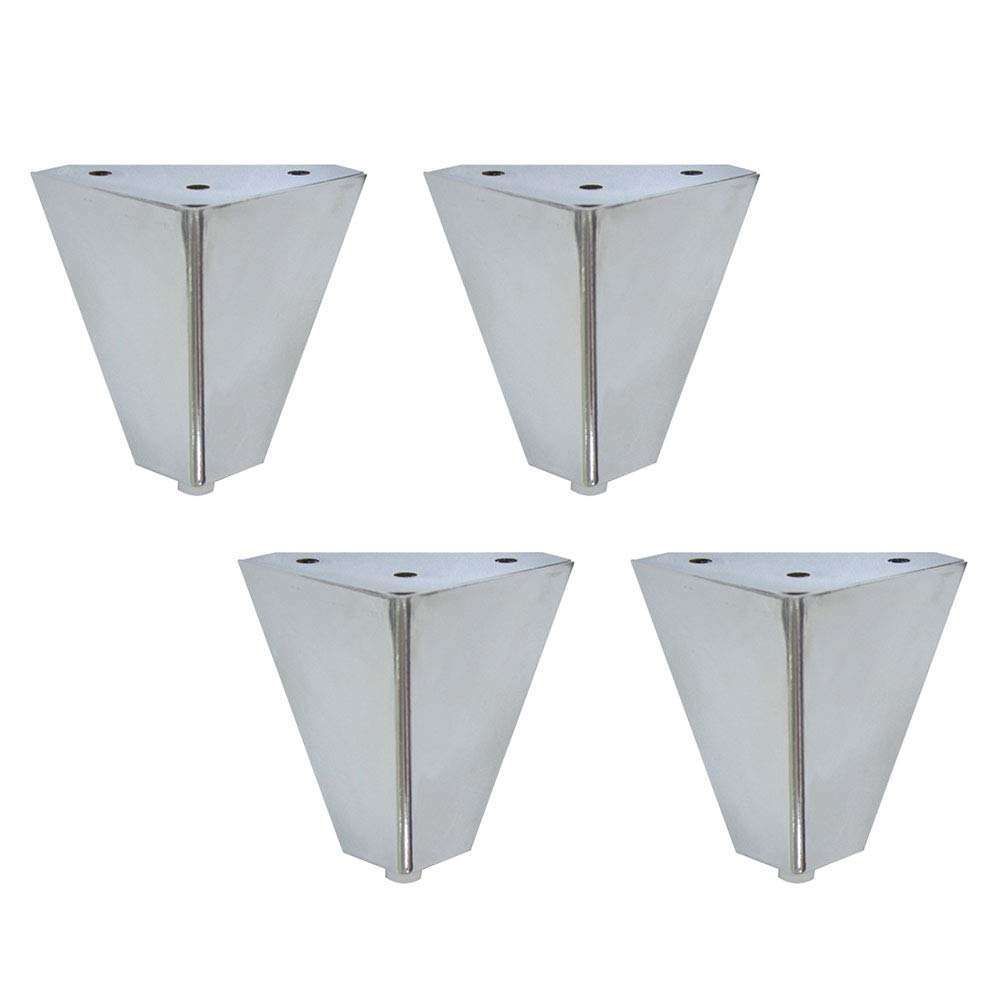 Triangle Sofa Table Legs Cabinet Feet Height 10cm Anti-Rust Furniture Accessories Silver Metal Furniture Legs