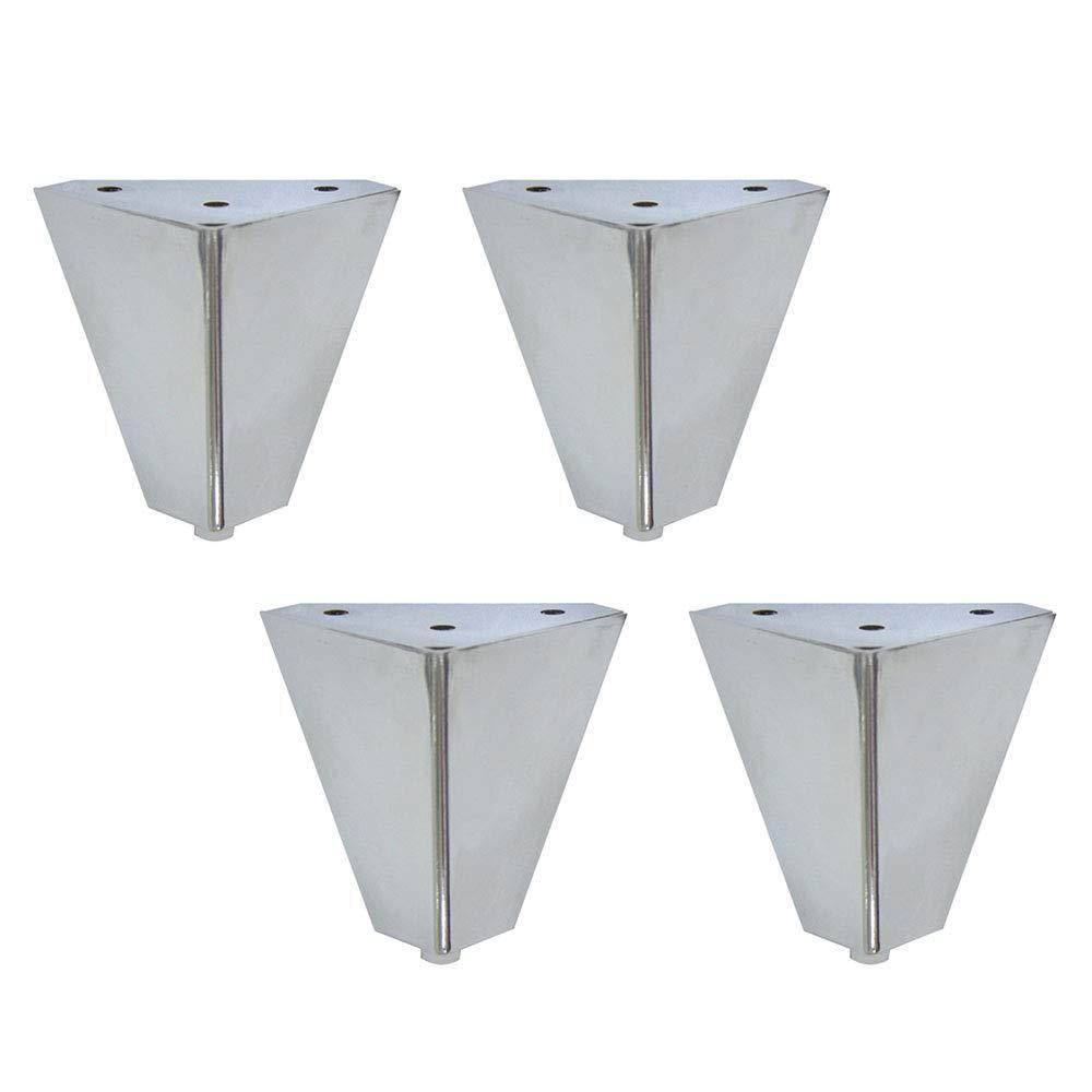 Triangle Sofa Table Legs Cabinet Feet Height 10cm Anti-Rust Furniture Accessories Silver Metal Furniture Legs