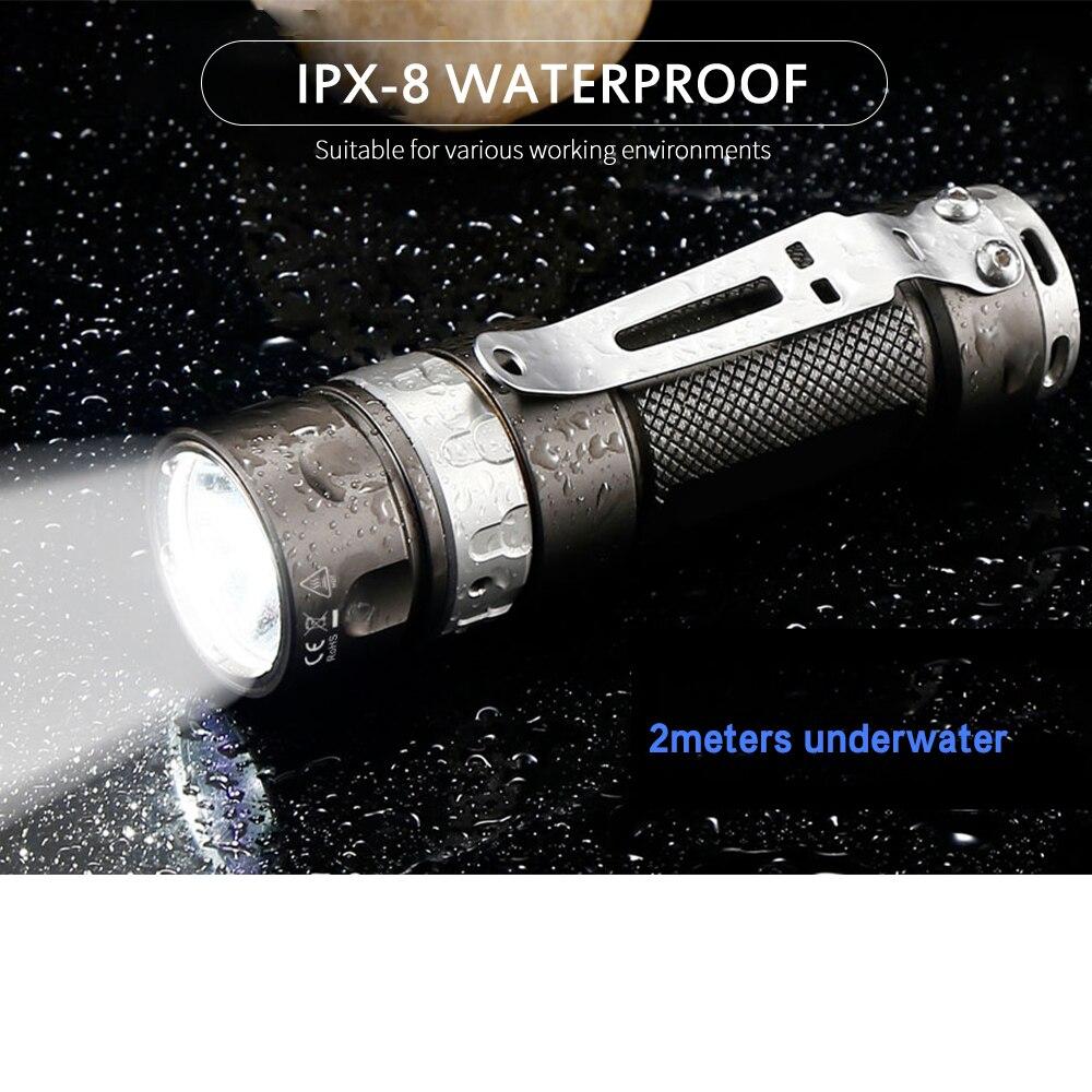 Jetfeixe-lanterna tática rrt01, cree xpl, led, escurecimento
