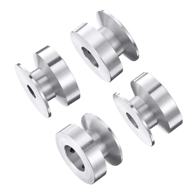 DANIU 8-20MM גודל 40MM יחיד חריץ גלגלת סוג ציר גלגלת גלגלים נשא קבוע עבור ציר מנוע פיר כונן אלומיניום סגסוגת