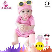 UCanaan 19'' Inch Realistic Newborn Real Baby Girl Doll Reborn Babies Dolls Lifelike Full Body Silicone Vinyl Doll