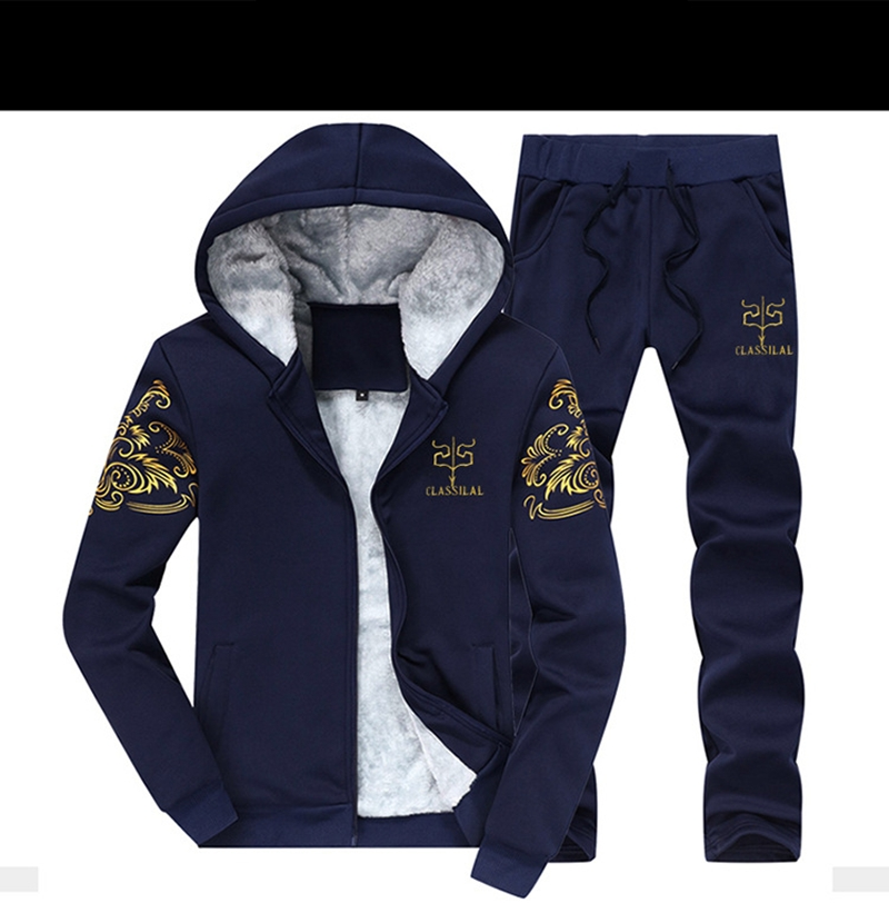 BOLUBAO Tracksuits Men Sweatshirt Sporting Sets Winter Jacket + Pants Casual Clothing Men's Track Suit Sportswear Coat