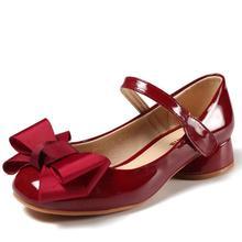 Детская кожаная обувь; свадебные модельные туфли для девочек; детские кожаные сандалии принцессы с бантом для девочек; Повседневная танцевальная обувь; сандалии на плоской подошве