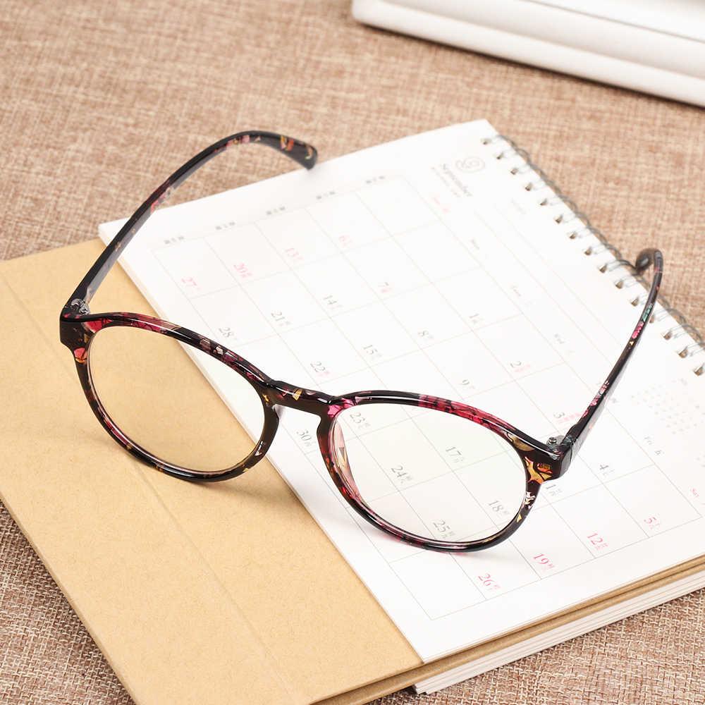 1Pcs Novo Quadro de Moda Óculos Para Mulheres Limpar frame Óculos Redondos Do Vintage Feminino Armações de Óculos de Plástico Transparente
