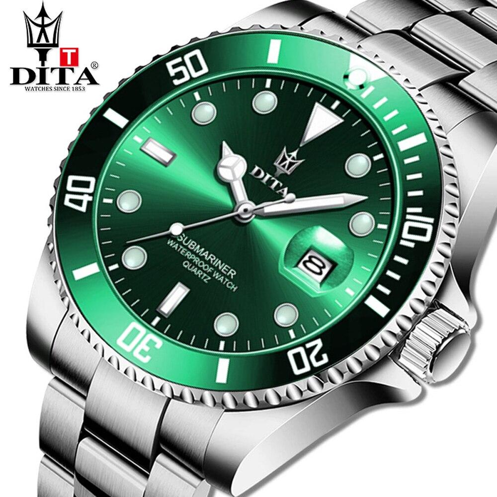 DITA Топ Роскошные брендовые модные часы погружения для мужчин 3ATM Водонепроницаемый Дата часы спортивные часы кварцевые наручные часы Relogio ...