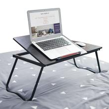 Składane biurko komputerowe regulowany kąt nachylenia przenośny laptop biurko home leniwy łóżko biurko półka z telefon komórkowy gniazdo mx6011341 tanie tanio Z tworzywa sztucznego