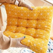 Um assento cadeira almofada para escritório almofadas decorativas para sofá jardim ao ar livre grosso algodão casa almofada decorativa