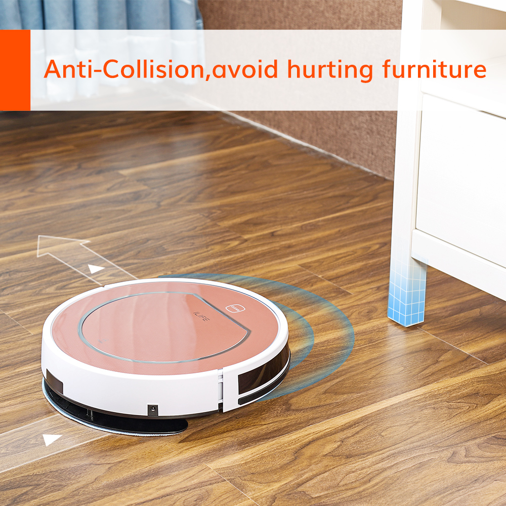 ILIFE V7s Plus Robot Vacuum Cleaner Sweep and Wet Mopping Disinfection For Hard Floors&Carpet Run 120mins Automatically Charge 4
