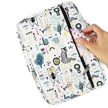 220 Slots Gekleurde Etui Oxford Stof Pen Case Met Compartimenten Potlood Houder Voor Aquarel Potloden
