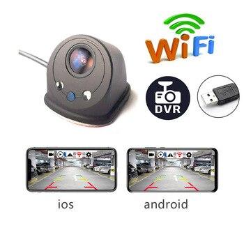 Беспроводная Автомобильная камера заднего вида, wifi, 170 градусов, камера заднего вида, Dash Cam, USB, мини, водонепроницаемая, для вождения, рекорде...