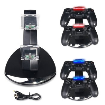 цена на For PS4 Controller Charger Dock Dual USB Charging Stand Station Cradle for Sony Playstation 4 PS4 / PS4 Pro /PS4 Slim Controller