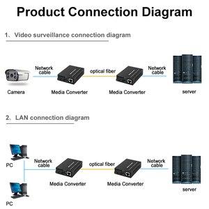 Image 5 - 1 par gigabit fibra óptica conversor de mídia 1000mbps único modo simples sc porto fibra optica rj45 transceptor óptico 3/20km