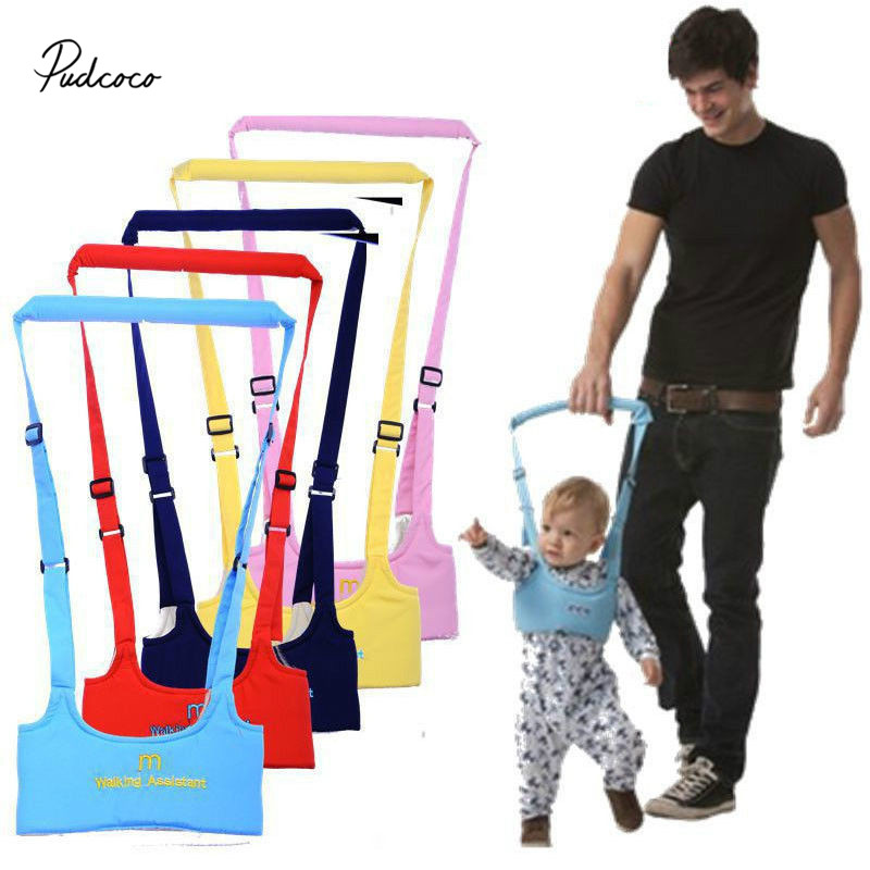 Pudcoco Cute Baby Toddler Walk Toddler Safety Harness Assistant Walk Learning Walking Baby Walk Assistant Belt