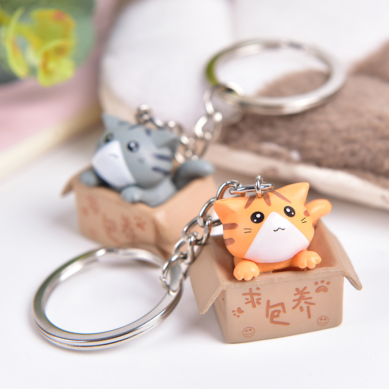 Cartoon Cute Doll Cat Keychains Women Girls Charm Bags Key Chain Accessories Pendant Car New Key Ring 2020