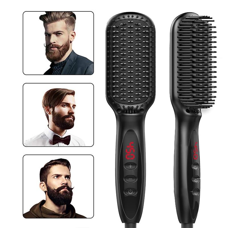 Electric Beard Straightener Hair Straightener Brush Multifunctional Men Quick Heating Beard Straightening Comb Hair Styling Comb