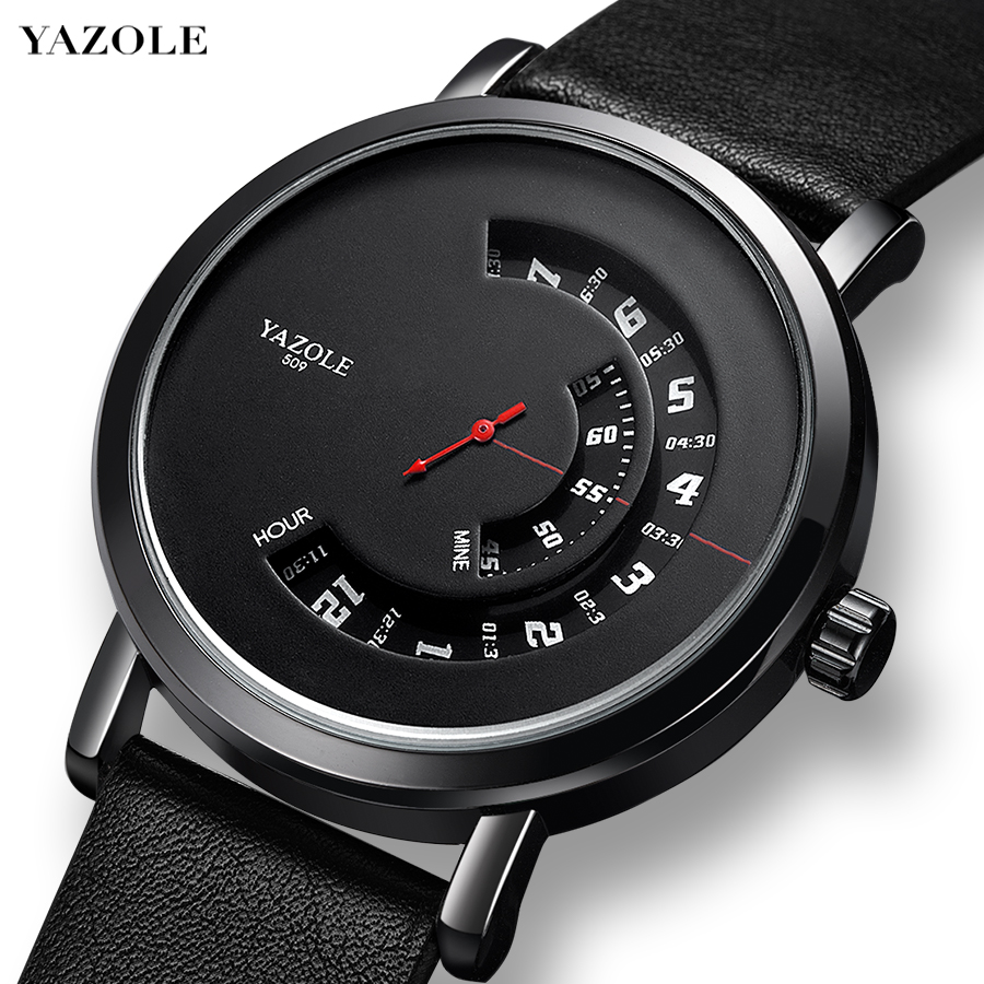 YAZOLE Hollow Design Mens Watches Men Luxury Top Waterproof Quartz Watch Fashion Creativity Men's Unique Watch Relogio Masculino