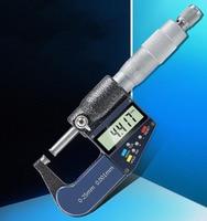 Electronic Digital Display Outer Diameter Micrometer 25mm Spiral Micrometer Micrometer Caliper Carbide Head Measuring Tool
