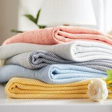 Throw Blanket for Sofa Bed Fashion Hand-woven Wave Herringbone Pattern Tassel Pendant Plaid Home Soft TV Nap Solid Blanket Shawl