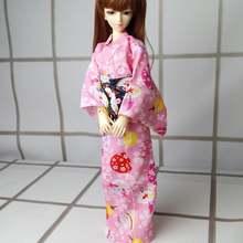 """Ooak японский стиль Розовое Кимоно Платье для 1/4 17 """"44"""
