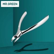 Senhor cortador de unhas verde