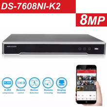 HIKVISION upgradable 4K H.265 NVR 8CH 16CH DS-7608NI-K2 DS-7616NI-K2 Up to 8MP record Network video recorder