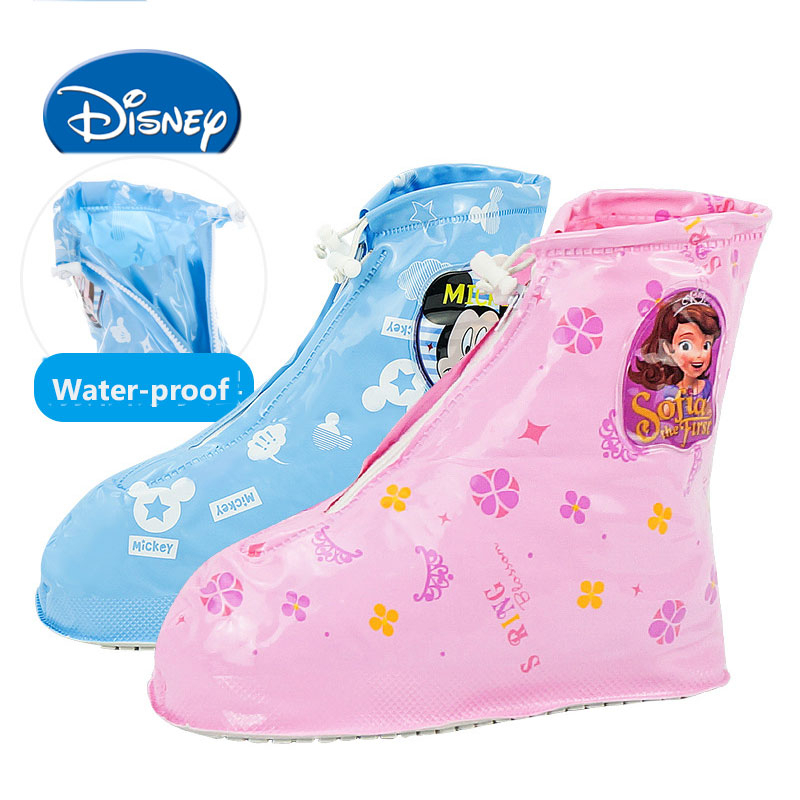 Disney Water-proof  Water Shoes Children Rainboots Micky Soft Parches Disney Rain Shoes