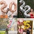 Фольга с цифрами, 16/32/40 шары цифры шары на день рождения шар цифра шарики с днем рождения шары фольгированные