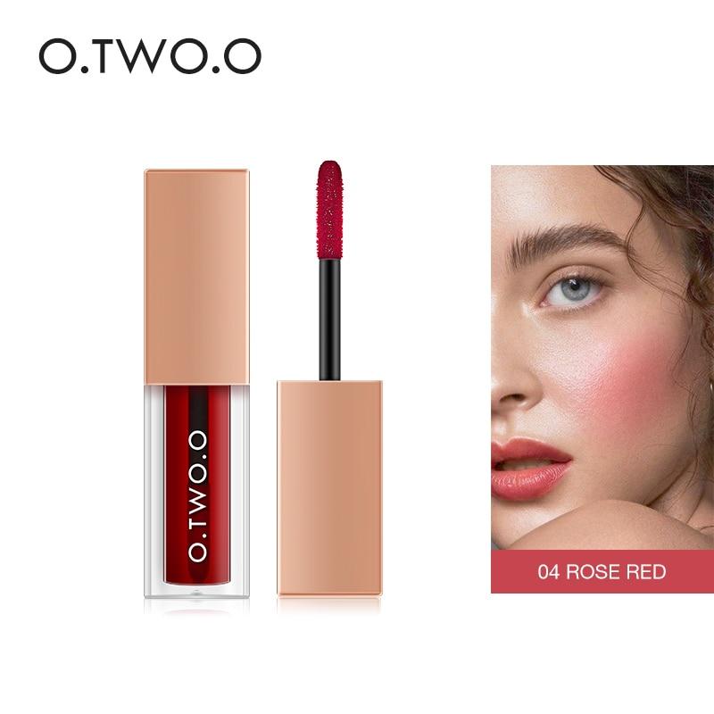 O. tw o.o maquiagem blush rosto duradouro rosa maquiagem waterpoof pêssego blush duplo uso beleza coreano líquido blush