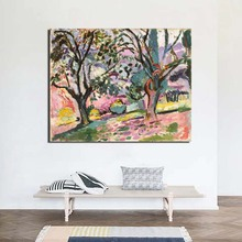 Matisse Landscape Painting Olive Trees Classic Artwork Wallpaper Spray Painting Cuadros Canvas Wall Art Poster Nordic Print Painting Decoration Wall Pictures For Living Room Modern Home Decoration Background Framework цена и фото
