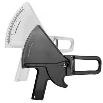 Tkanki tłuszczowej Caliper Tester Fitness fałdu skórnego dokładny pomiar narzędzie pomiarowe akcesoria analizator tkanki tłuszczowej Tester mięśni zachować zdrowie tanie i dobre opinie TMISHION Body Fat Caliper Plastic 0-80mm