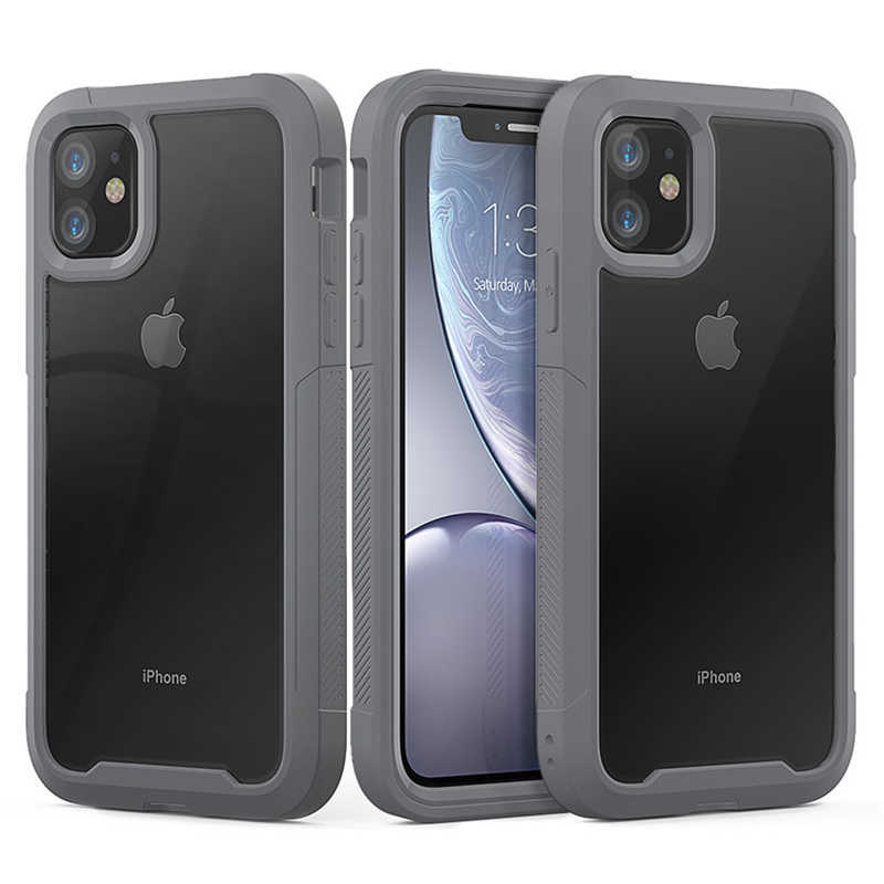 Schokbestendig Armor Siliconen Case Voor iPhone 11 Pro XS Max Transparante Cases Voor iPhone 6 6S 7 8 Plus X XR Luxe TPU Acryl Cover