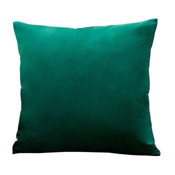 Housse de coussin Vert émeraude – 4 tailles au choix