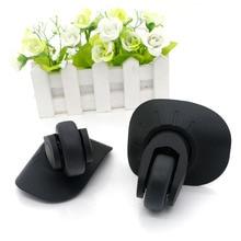1 คู่ DIY เปลี่ยนกระเป๋าล้อสำหรับกระเป๋าเดินทาง Repair Hand SPINNER Caster ล้ออะไหล่รถเข็นยาง Trunk ล้อสีดำ W06