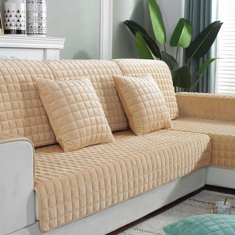 Zagęścić kryształ aksamitna tkanina kot narzuta na sofę antypoślizgowa narzuta Seat europejska narzuta na sofę Sofa ręcznik na wystrój salonu