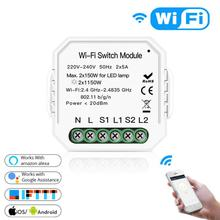 Wifi Smart Light Switch 2 Gang 2 Way Diy Breaker Module