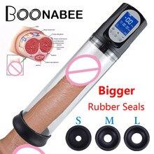 Насос вакуумный для увеличения пениса, электрический аккумуляторный с зарядкой от USB, интимная игрушка