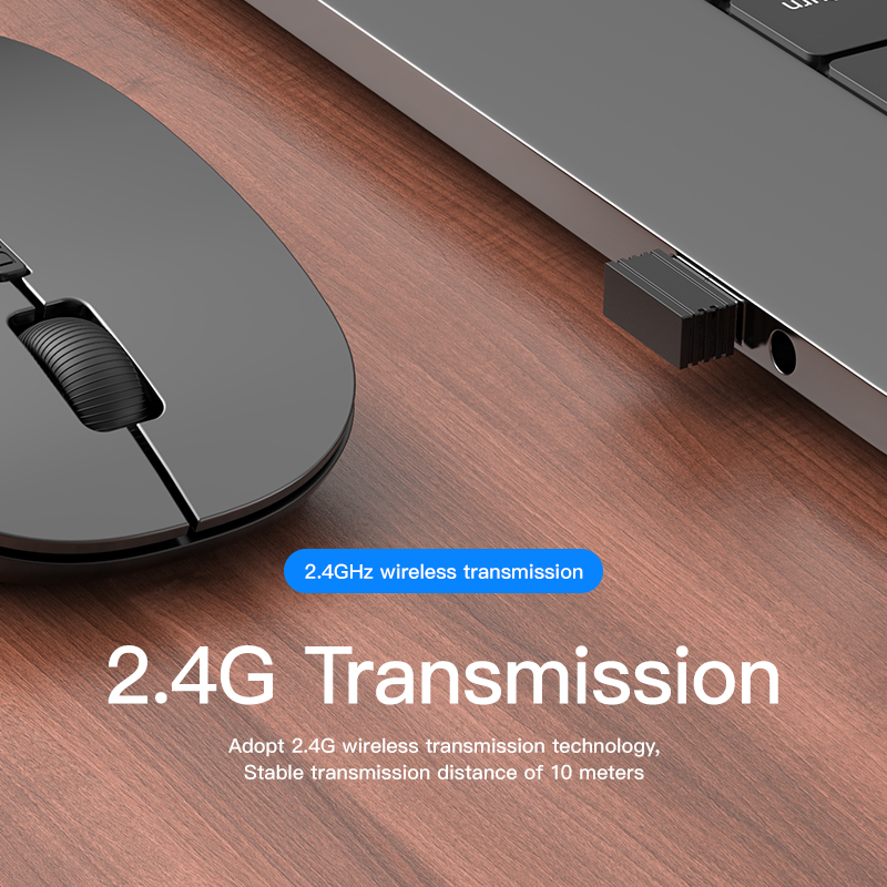 Niye Wireless Mouse Computer Mouse 2.4GHz USB Adapter Home Office Desktop Computer Mice Laptop Wireless Mouse Ergonomic Mouse 3