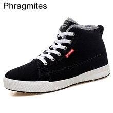 Phragmites Waterproof Soft PU Leather Shoes High Quality Autumn Snow Boot Men Ankle With Fur Plus Velvet Tide Botas