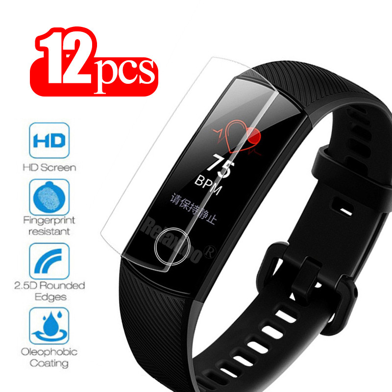 12pcs Honor Band 5 Screen Protector For Huawei Honor Band 4 Film Soft Films On Band4 Band5 Smart Bracelet Accessories Not Glass
