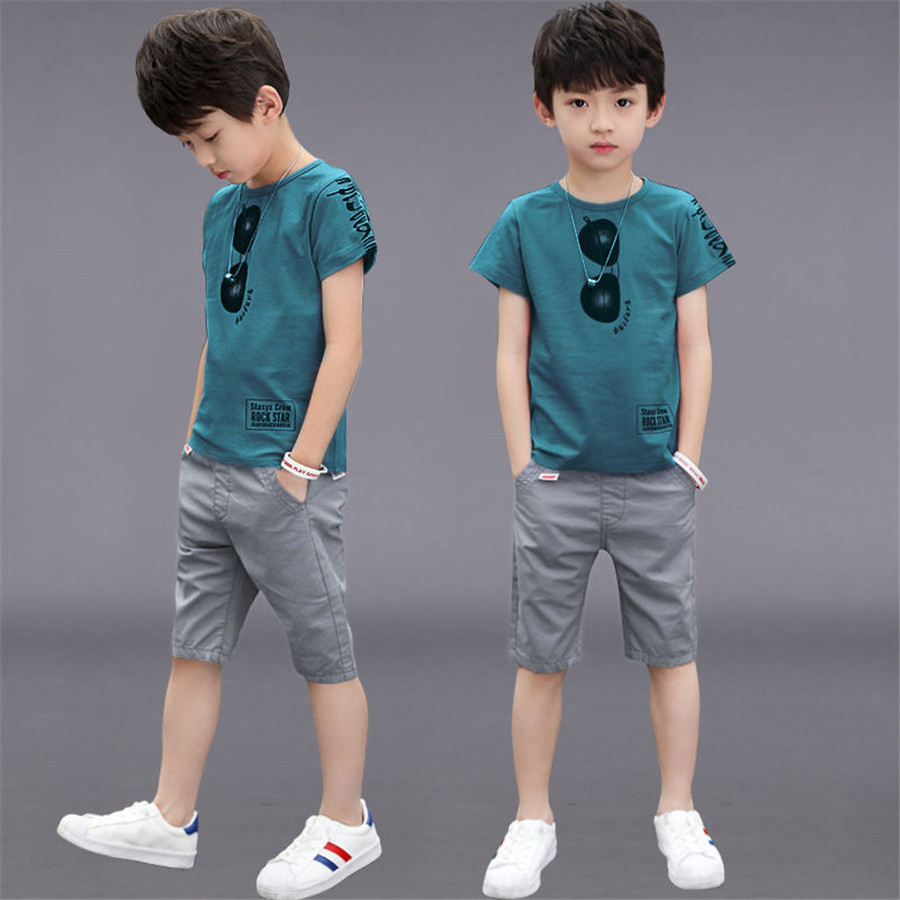 Teen Boys Clothing Sets Summer Boys