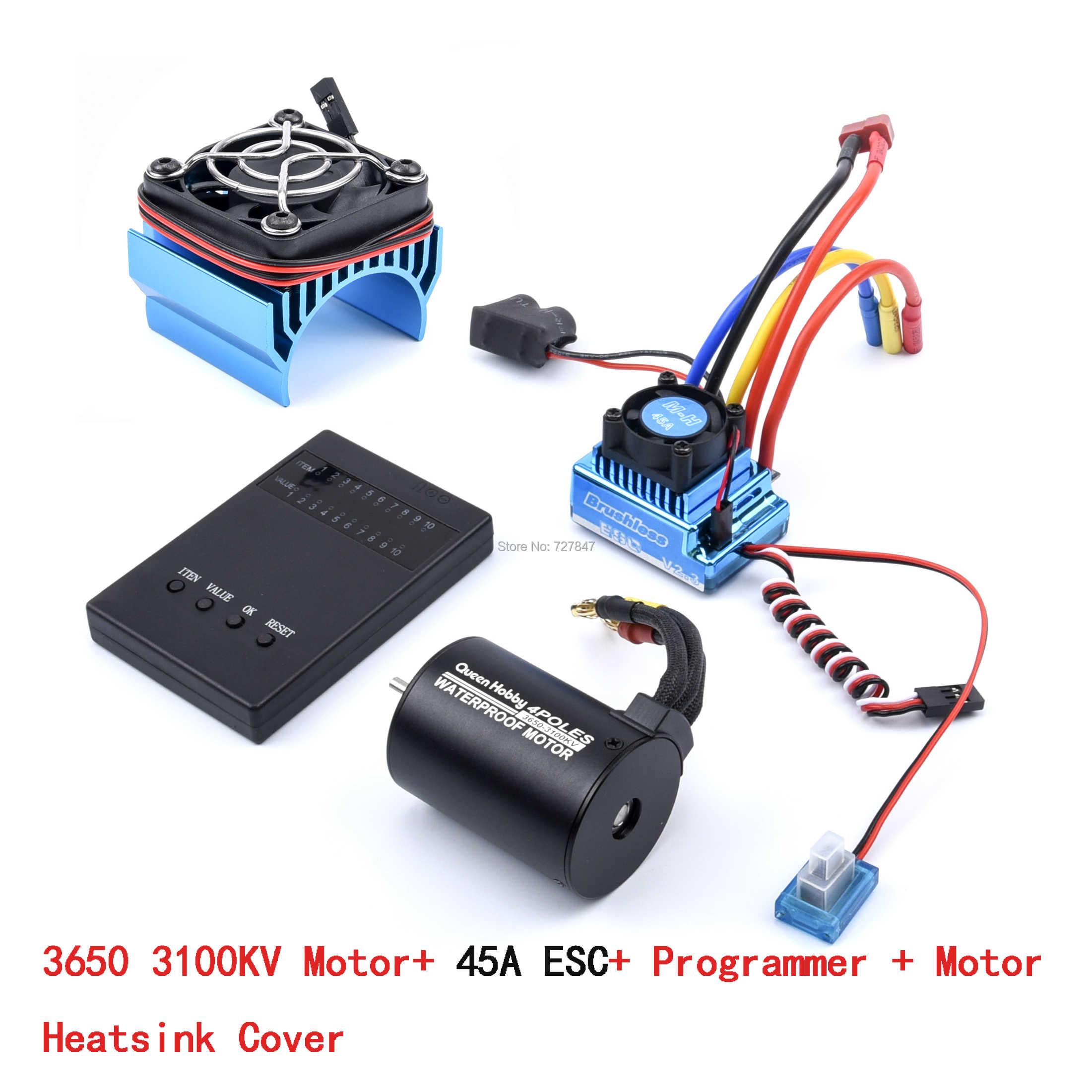 3650 2300KV / 3100KV / 3900KV / 4300KV / 5200KV Borstelloze Motor & 45A 60A 80A 120A Esc Combo Voor 1:10 Rc Auto Rc Boot Deel
