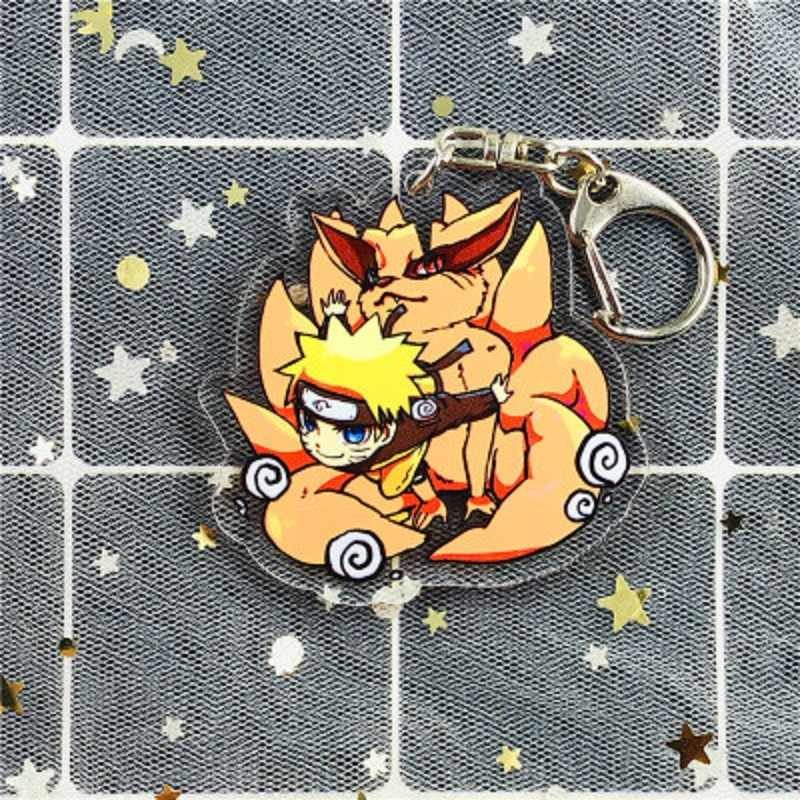 Anime Naruto role play Japanese ninja Sasuke anime acrylic Cosplay Naruto transparent key chain acrylic key pendant
