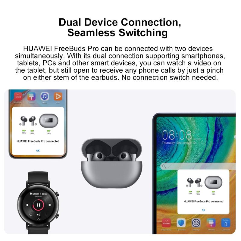Оригинальная глобальная версия Huawei FreeBuds Pro Наушники-вкладыши TWS с In-ear Беспроводная гарнитура наушники для активного шумоподавления наушники 4