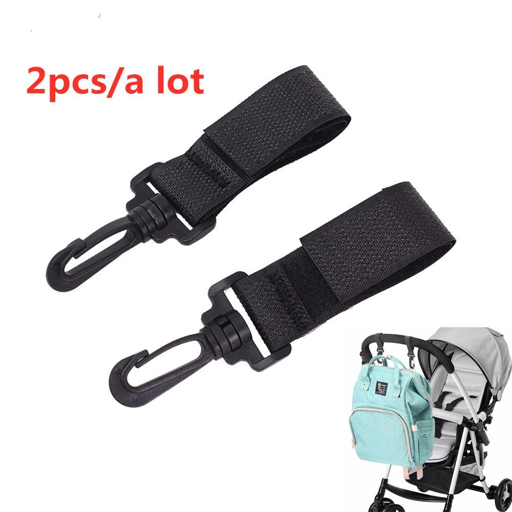 2pcs Stroller Hooks Wheelchair Stroller Pram Carriage Bag Hanger Hook Baby Strollers Shopping Bag Clip Stroller Accessories